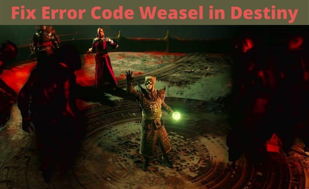 error code weasel